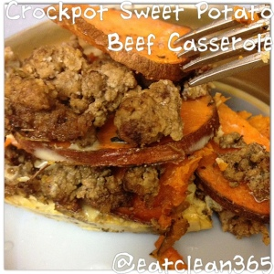 Crockpot Sweet Potato Beef Casserole