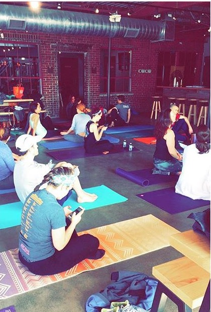 brewery yoga class
